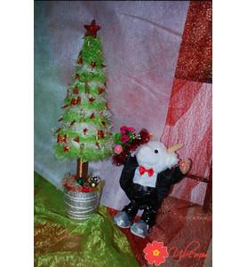 Новорічна флористика №11 (ялинка і баранчик)